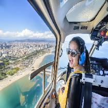 360º Barcelona SkyRide: Luxury MiniBus sightseeing Tour, Helicopter flight & Sailing trip (AM)