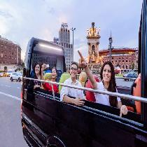 Barcelona Air, Land & Sea / Day & Night Full Day Tour Package