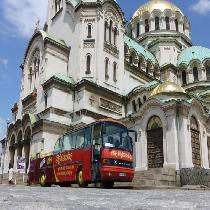Citysightseeing Sofia with double-decker bus with Transportation and Audio Guide