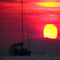 Romantic Sunset sailing cruise