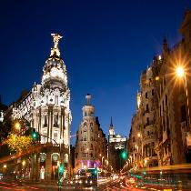 Madrid By Night and Gran Via Casino With Drink